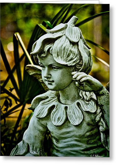 In The Garden Greeting Card by Christopher Holmes