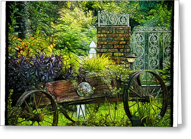 In The Garden Greeting Card by Judi Bagwell