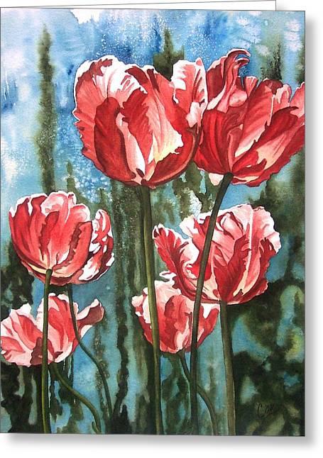 In The Garden Greeting Card by Karen Casciani