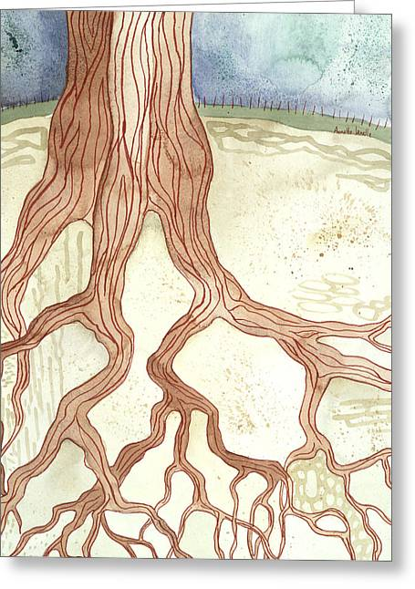 In The Ground Beneath Greeting Card by Annette Janelle Provenzo