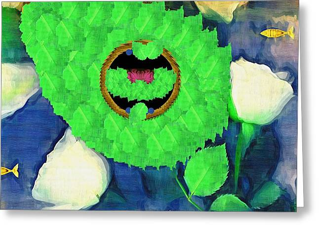In The Pond Pop Art Greeting Card