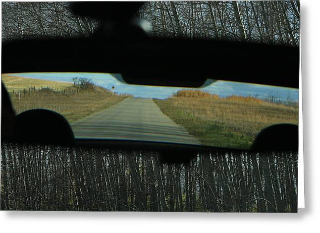 In The Rear View Greeting Card