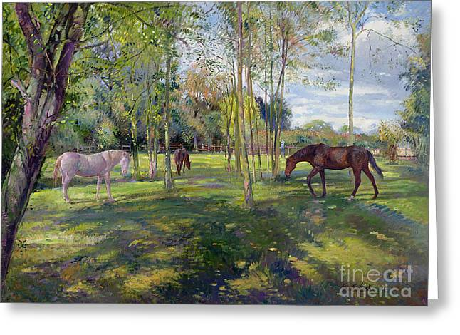 In The Rectory Paddock Greeting Card by Timothy Easton
