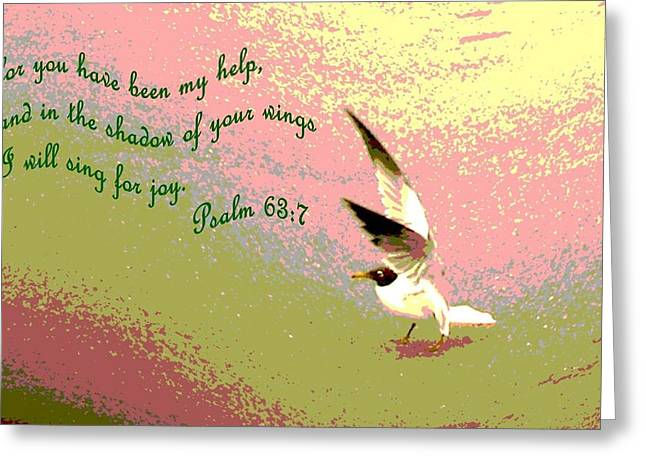 In The Shadow Of Your Wings Greeting Card