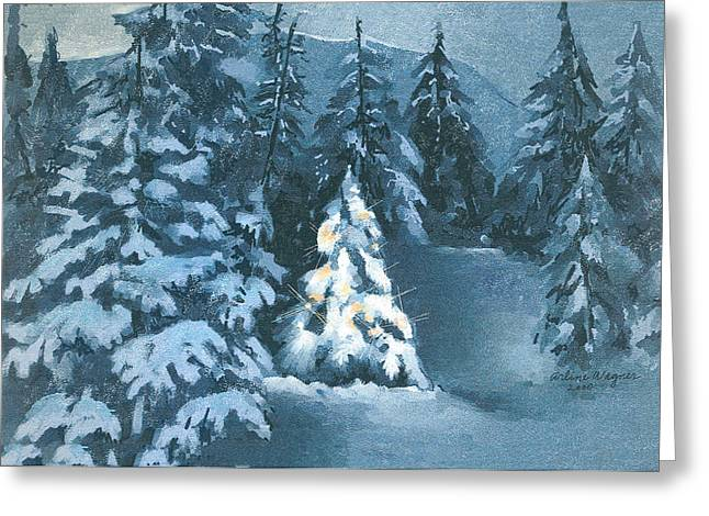 In The Spotlight Greeting Card by Arline Wagner