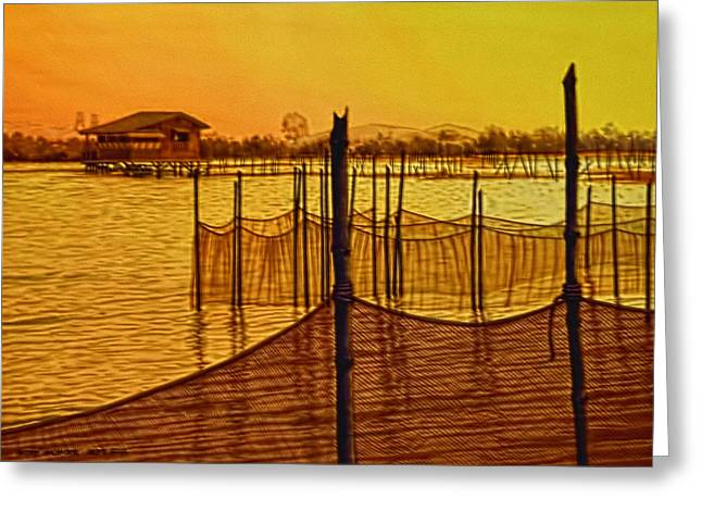 In The Still Of The Dawn Greeting Card