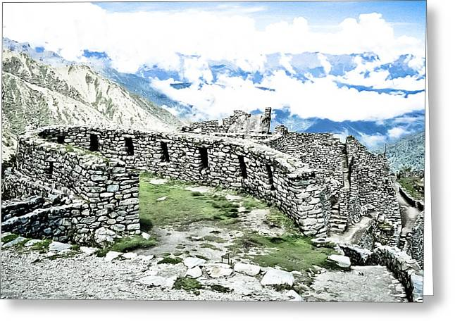 Inca Observatory Ruins Greeting Card by Darcy Michaelchuk