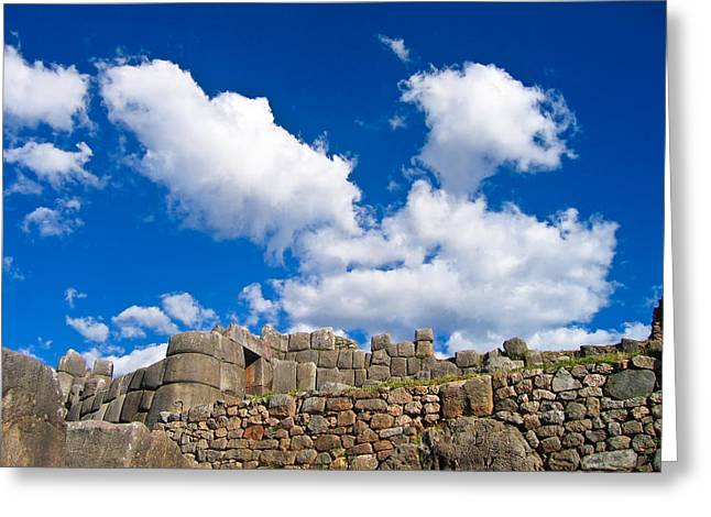 Inca Ruins Greeting Card