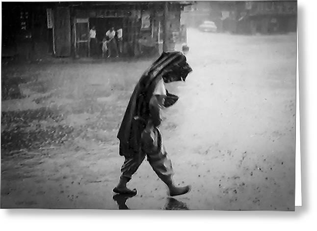 Inchon Monsoon 1955 Greeting Card by Dale Stillman