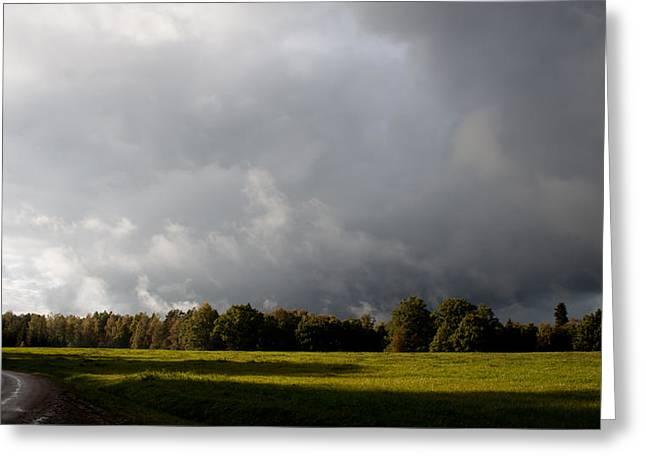 Incoming Rain Greeting Card by Robert Hellstrom
