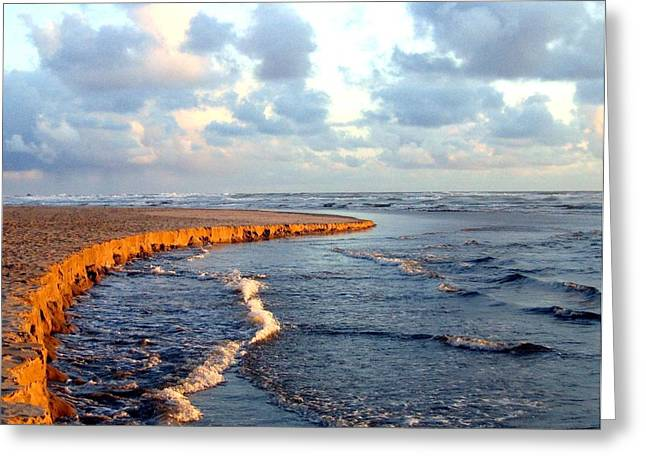 Greeting Card featuring the photograph Incoming Tide At Sundown by Will Borden