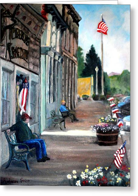 Independence Day Greeting Card by Rebecca Grice
