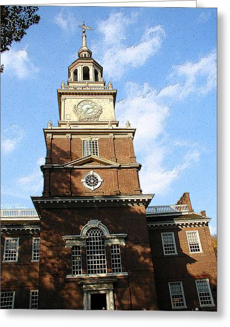 Independence Hall Greeting Card by Rick Thiemke