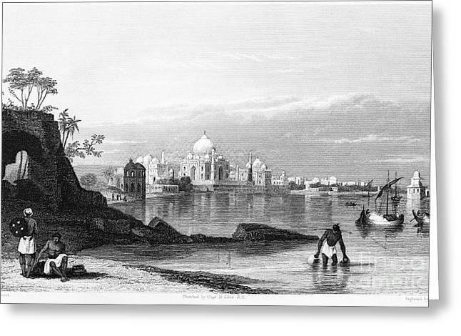 India: Taj Mahal, C1860 Greeting Card by Granger