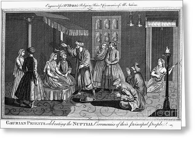 India: Wedding, 1780s Greeting Card