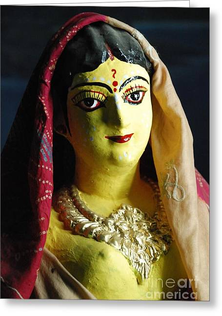 Greeting Card featuring the photograph Indian Beauty by Fotosas Photography