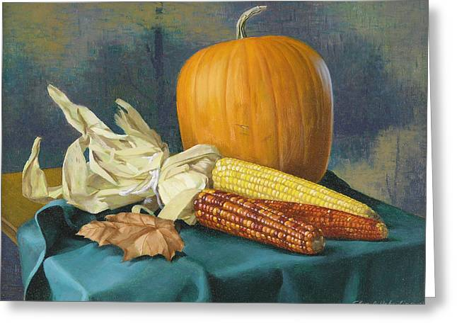 Indian Corn And . . . Greeting Card by Glen Heberling