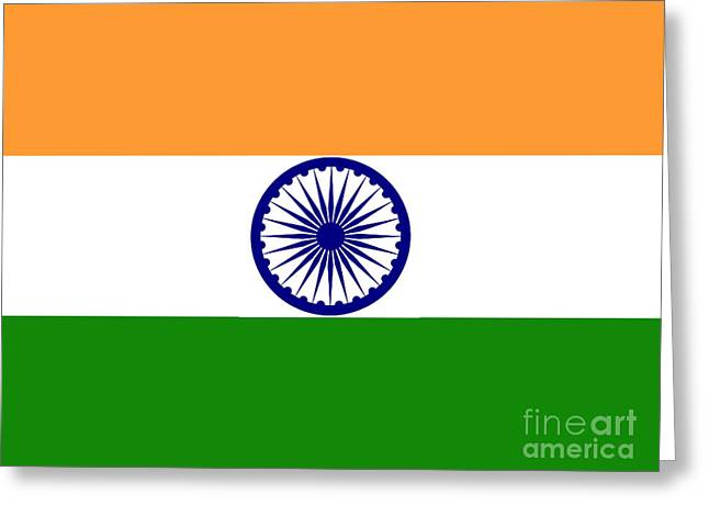 Indian Flag Greeting Card by Steev Stamford