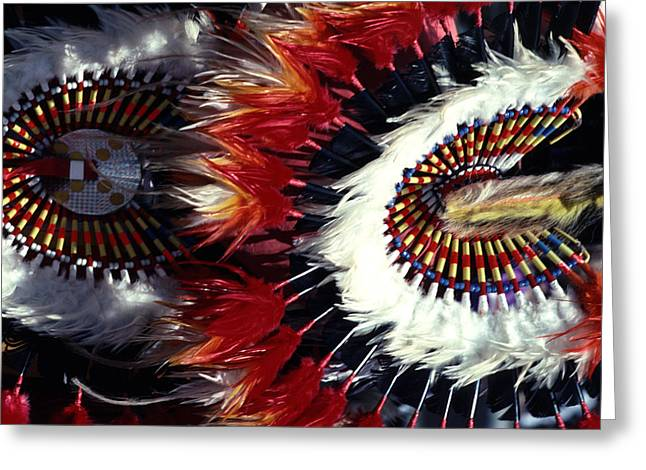 Greeting Card featuring the photograph Indian Headdress by Tom Wurl