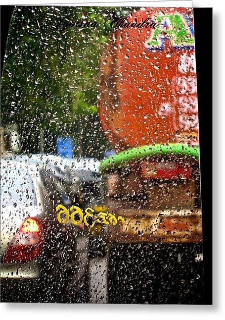 Indian Monsoon Greeting Card by Jyotsna Chandra