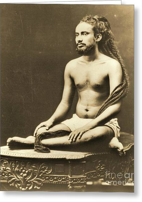 Indian Priest Meditating Greeting Card by Padre Art