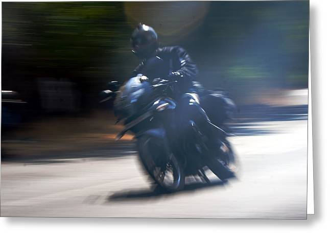 Indian Rider Leans Greeting Card by Kantilal Patel