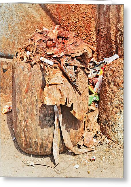 Indian Spitoon Disgusting Greeting Card by Kantilal Patel