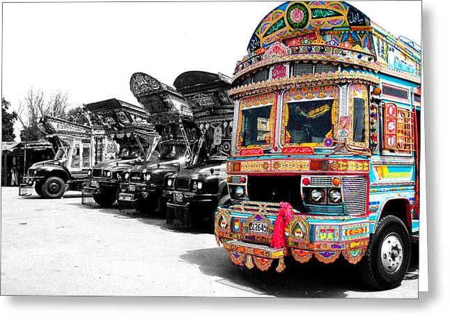 Indian Truck Greeting Card