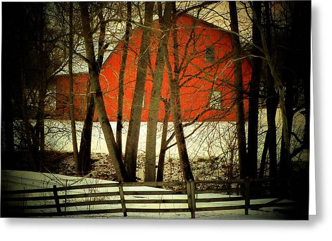 Indiana Barn And Fence Greeting Card by Michael L Kimble