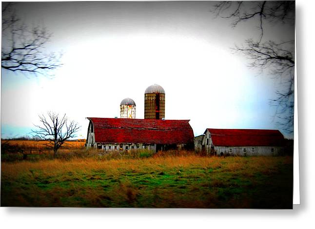 Indiana Barns Greeting Card