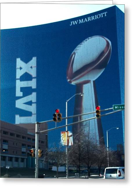 Indianapolis Marriott Trubute To Super Bowl 46 Greeting Card