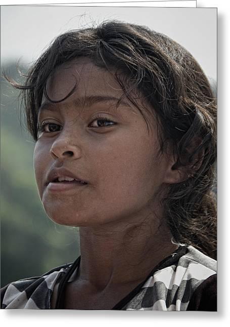 Indigenous Child Portrait Greeting Card