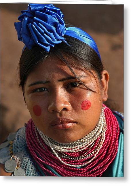 Indigenous Guarani Women. Department Of Santa Cruz. Republic Of Bolivia.    Greeting Card by Eric Bauer