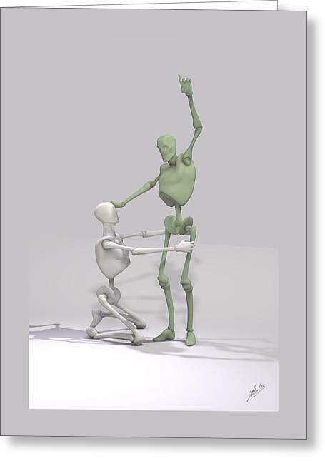 Indoctrinated Mechanical Greeting Card by Joaquin Abella