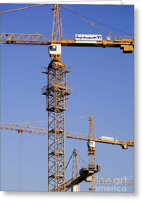 Industrial Cranes Greeting Card by Jeremy Woodhouse