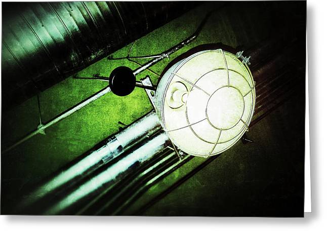 Industrial Light Greeting Card by Olivier Calas