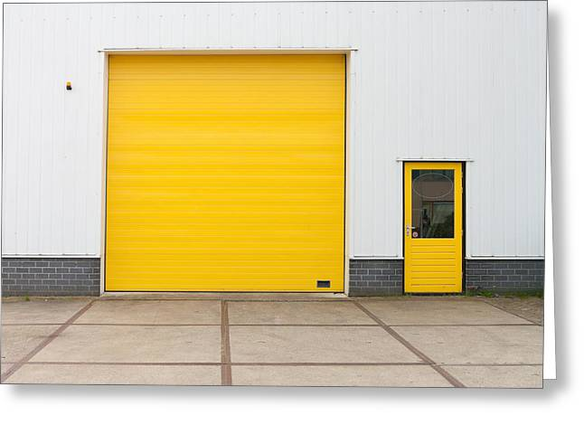 Industrial Warehouse Greeting Card by Hans Engbers