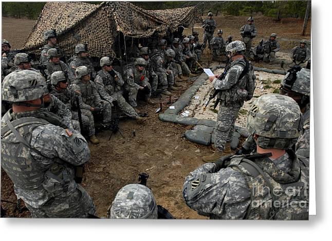 Infantrymen Receive Their Safety Brief Greeting Card by Stocktrek Images