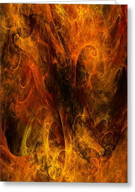Inferno Greeting Card by Niels Walther