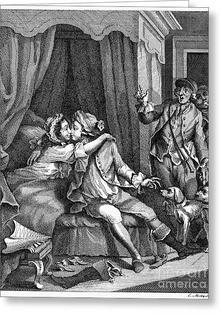 Infidelity, 18th Century Greeting Card
