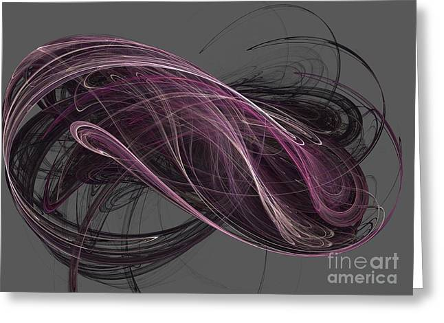 Greeting Card featuring the digital art Infinity by Kim Sy Ok