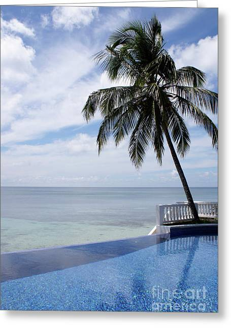 Greeting Card featuring the photograph Infinity Pool Big Corn Island Nicaragua by John  Mitchell