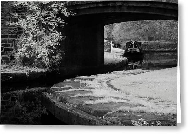 Greeting Card featuring the photograph Infrared At Llangollen Canal by Beverly Cash