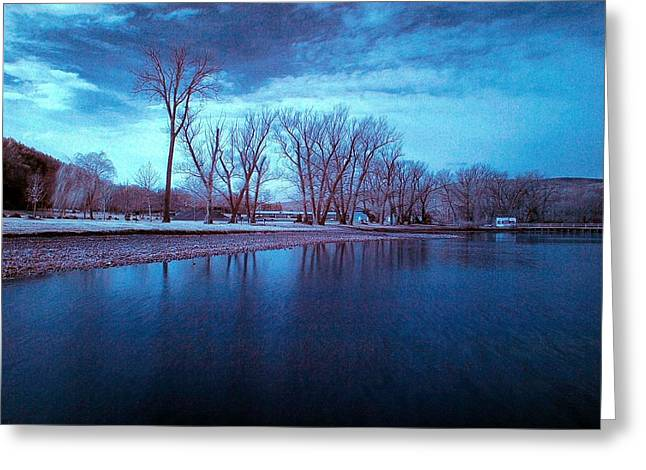 Infrared By The Lake Greeting Card by Joshua House