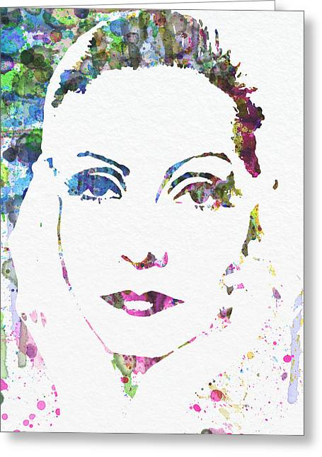 Ingrid Bergman  Greeting Card by Naxart Studio