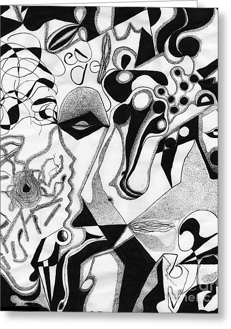 Ink Drawing 2 Greeting Card