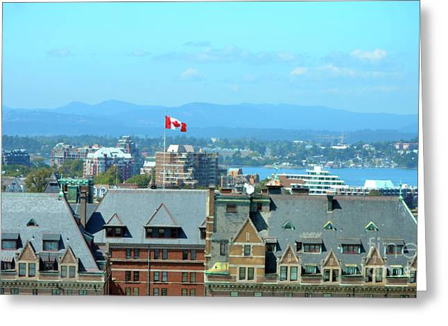 Inner Harbour As Seen  Via Marriot Window Greeting Card by Traci Cottingham