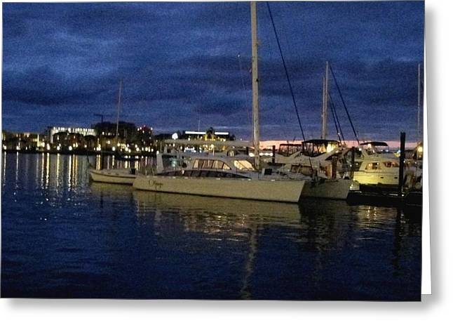 Inner Harbour At Night Greeting Card