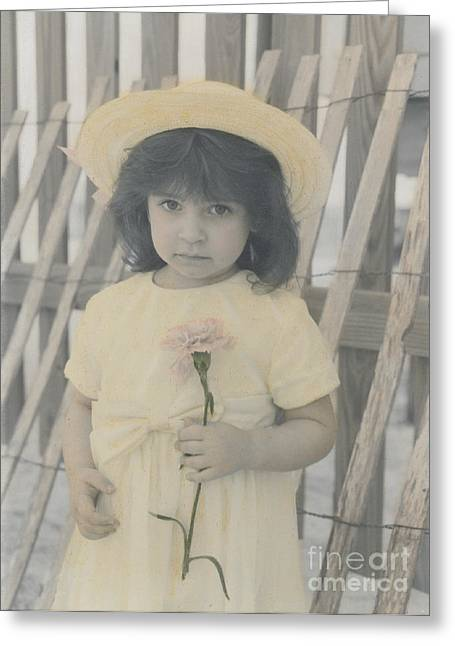 Greeting Card featuring the photograph Innocence by Lori Mellen-Pagliaro