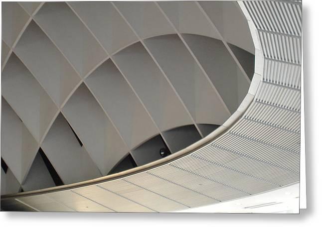 Inside Fuji Building Greeting Card by Naxart Studio